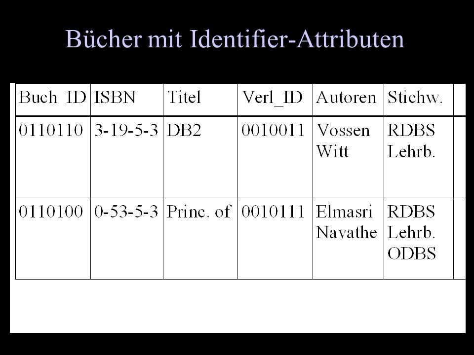 Bücher mit Identifier-Attributen