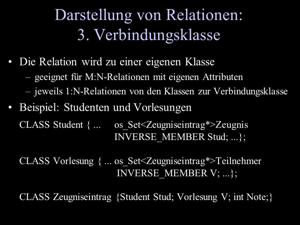Darstellung von Relationen: 3. Verbindungsklasse