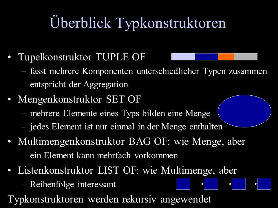 Überblick Typkonstruktoren