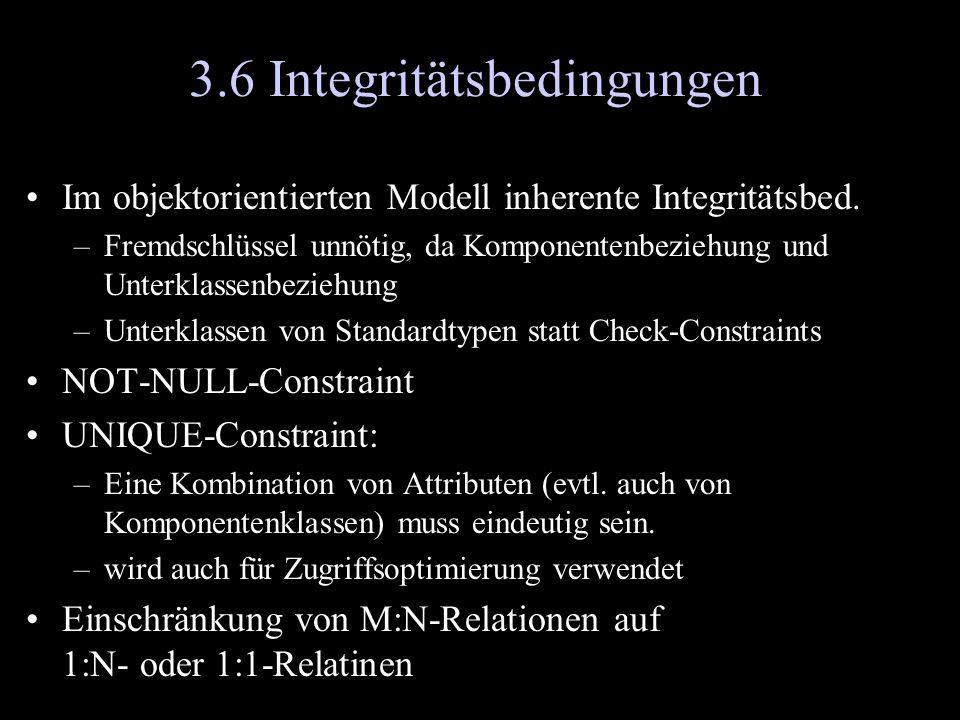 3.6 Integritätsbedingungen