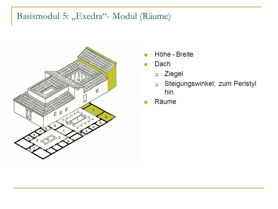 """Basismodul 5: """"Exedra - Modul (Räume)"""