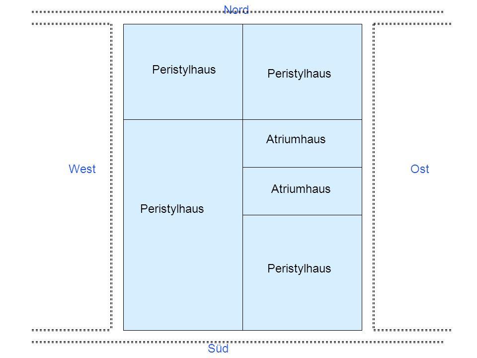 Nord Peristylhaus Peristylhaus Atriumhaus West Ost Atriumhaus Peristylhaus Peristylhaus Süd