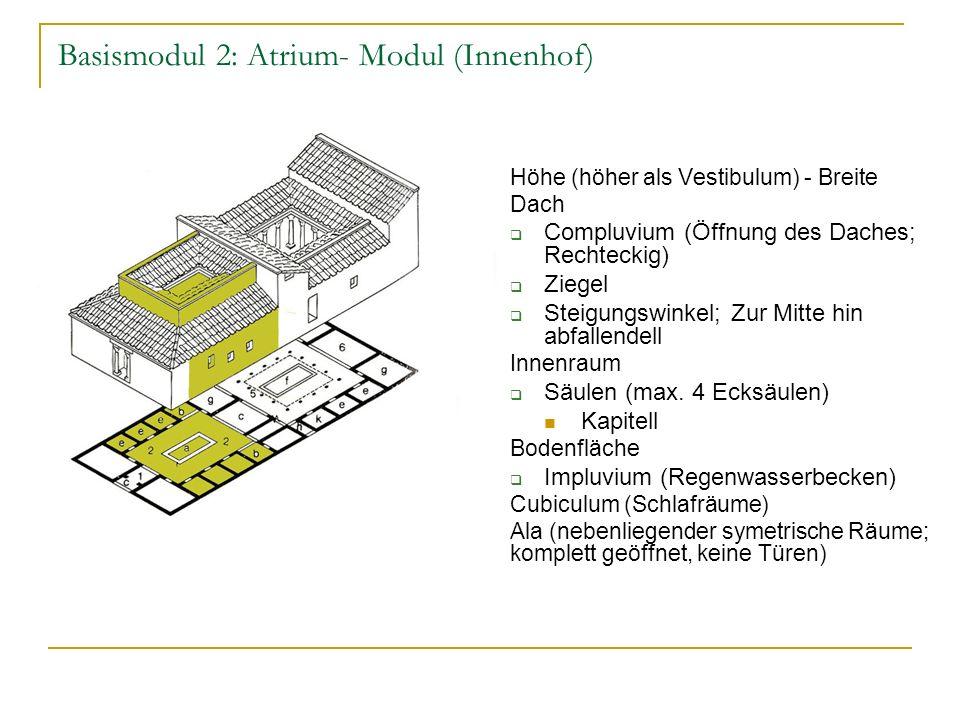 Basismodul 2: Atrium- Modul (Innenhof)