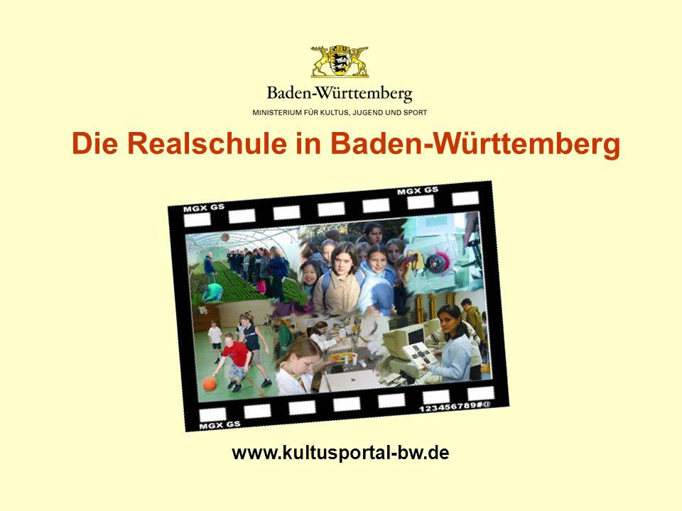 Die Realschule in Baden-Württemberg