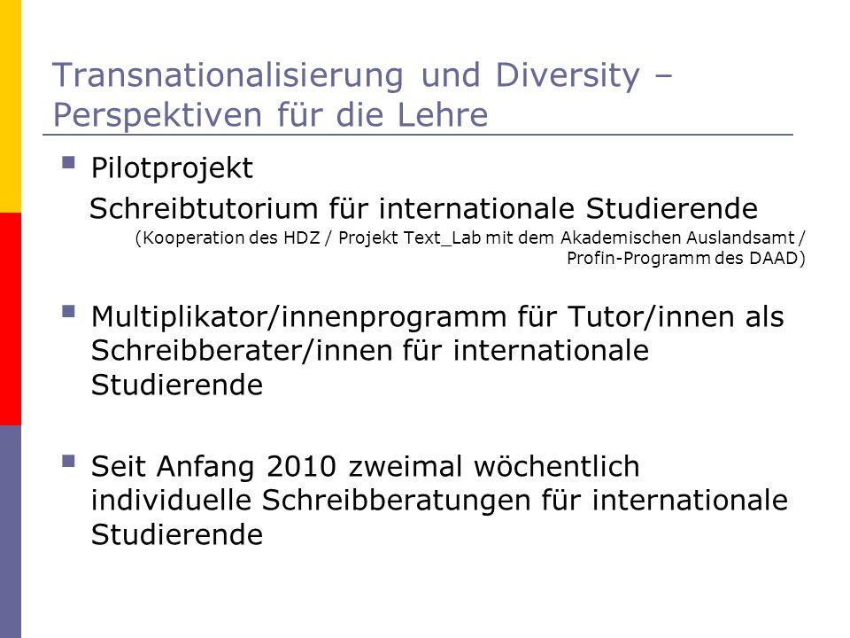 Transnationalisierung und Diversity – Perspektiven für die Lehre