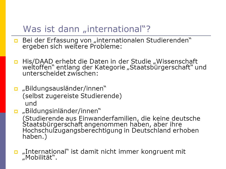"Was ist dann ""international"