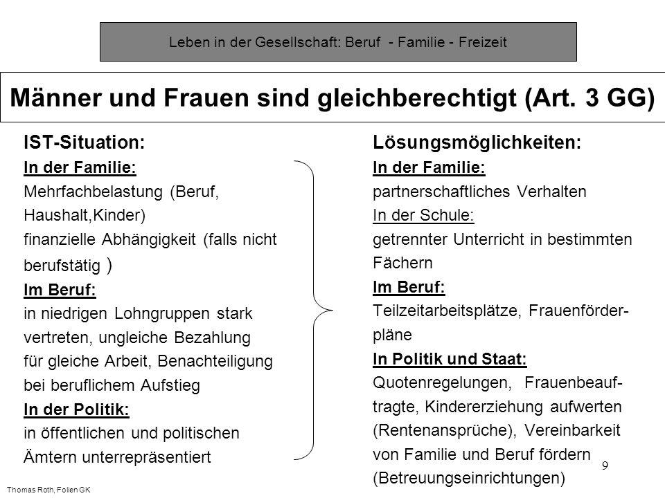 Leben in der Gesellschaft: Beruf - Familie - Freizeit