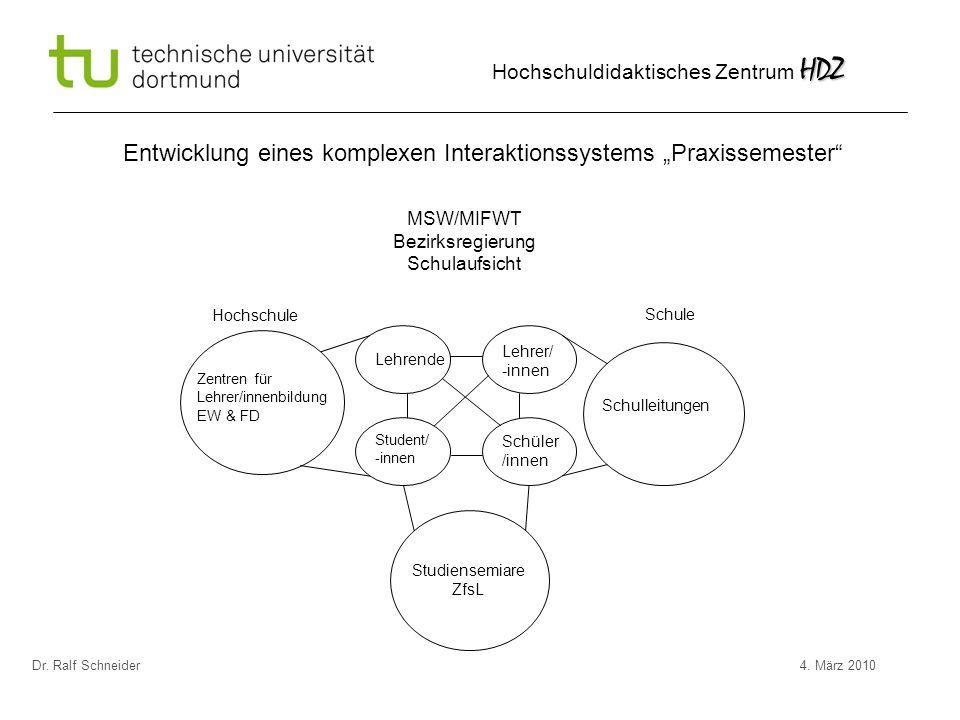 """Entwicklung eines komplexen Interaktionssystems """"Praxissemester"""