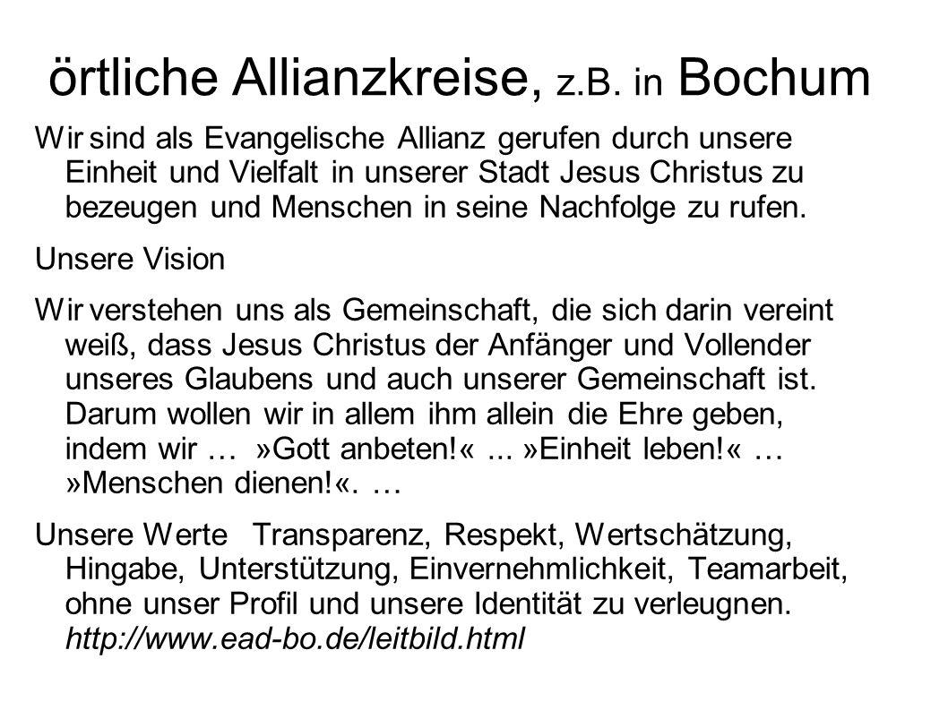 örtliche Allianzkreise, z.B. in Bochum