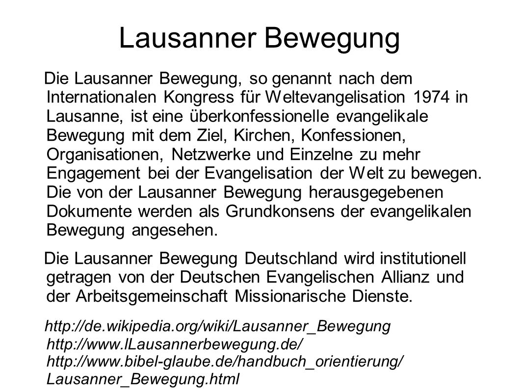 Lausanner Bewegung
