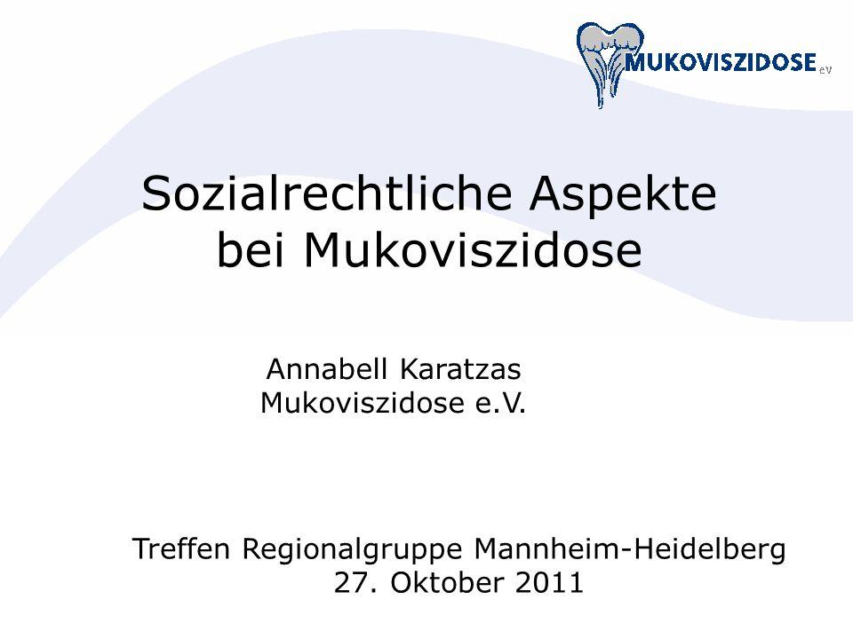 Sozialrechtliche Aspekte bei Mukoviszidose