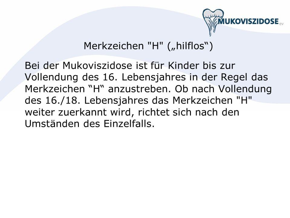 """Merkzeichen H (""""hilflos )"""