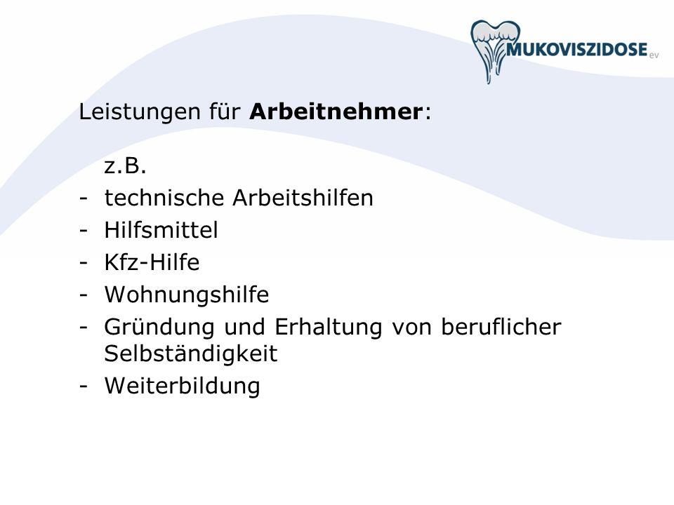 Leistungen für Arbeitnehmer: z.B.