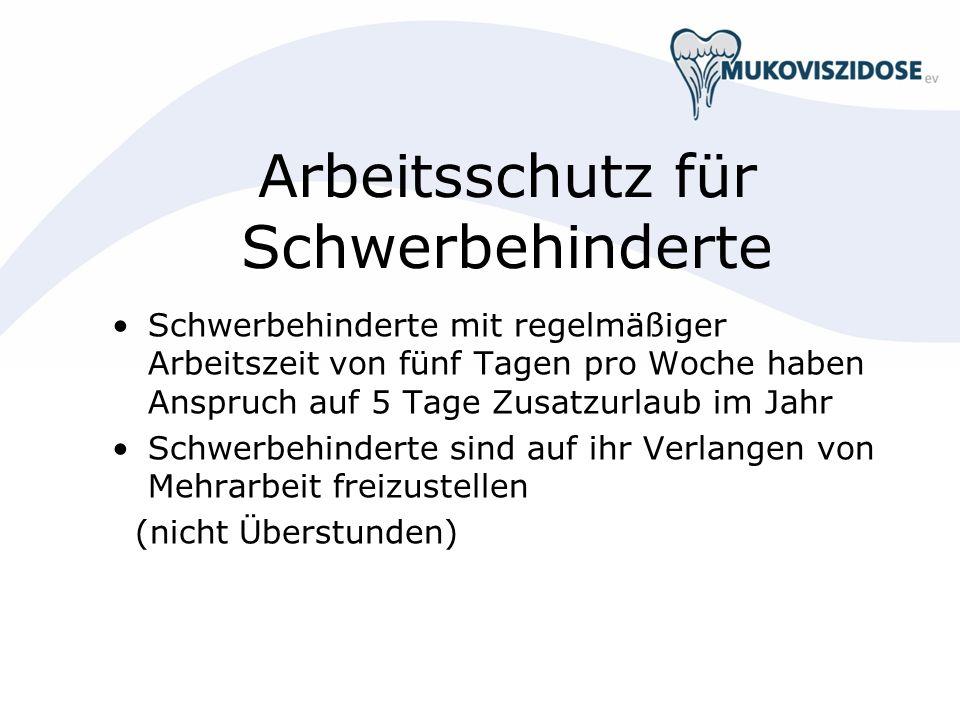 Arbeitsschutz für Schwerbehinderte