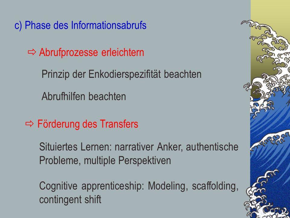 c) Phase des Informationsabrufs