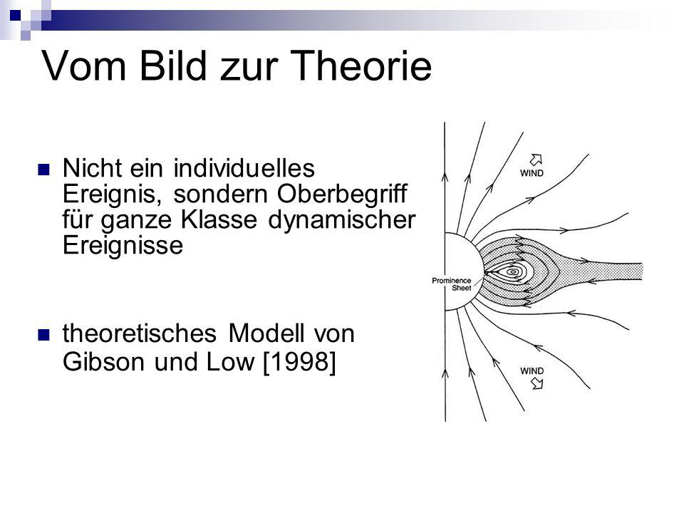 Vom Bild zur Theorie Nicht ein individuelles Ereignis, sondern Oberbegriff für ganze Klasse dynamischer Ereignisse.