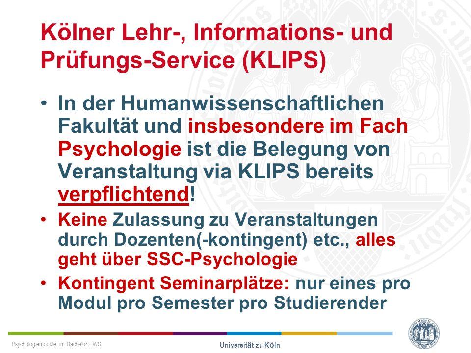 Kölner Lehr-, Informations- und Prüfungs-Service (KLIPS)