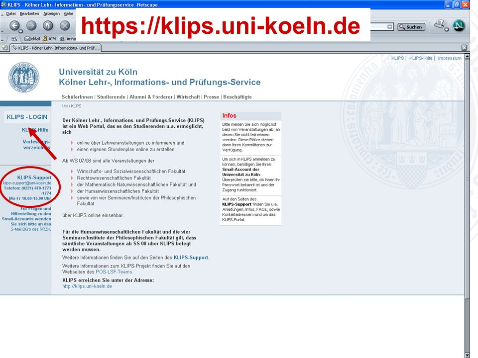 https://klips.uni-koeln.de Universität zu Köln