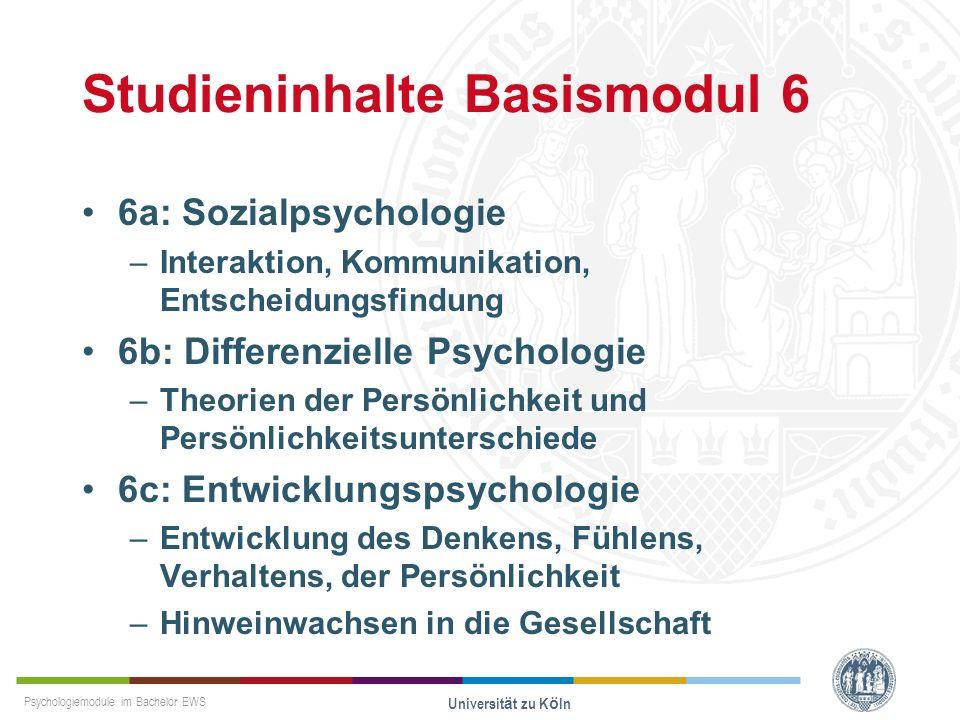 Studieninhalte Basismodul 6