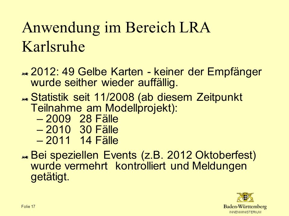 Anwendung im Bereich LRA Karlsruhe