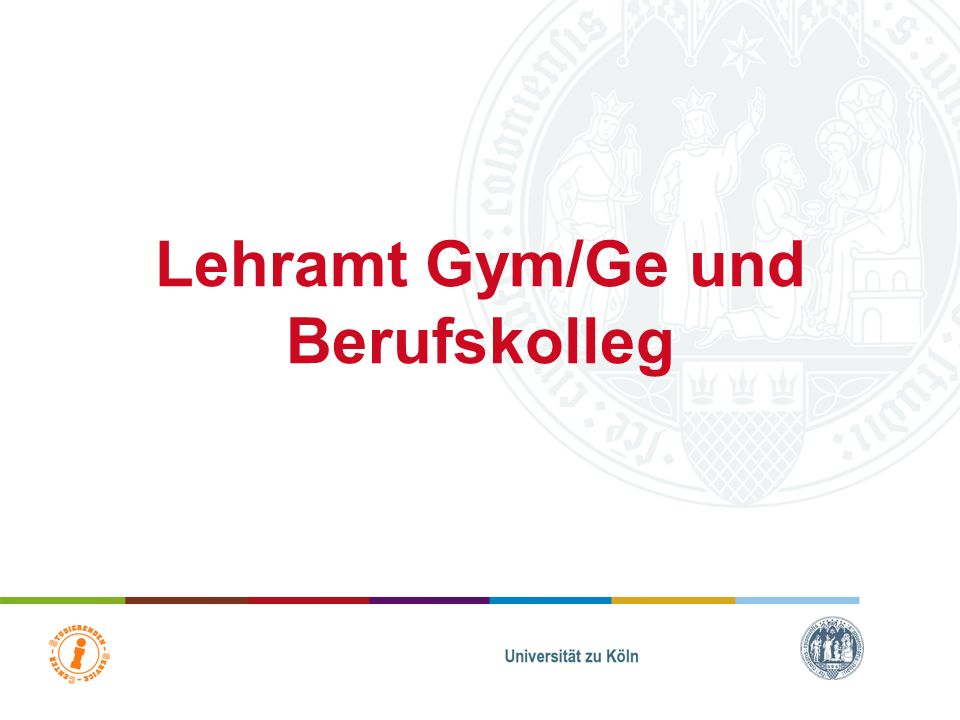Lehramt Gym/Ge und Berufskolleg