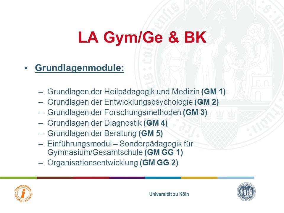 LA Gym/Ge & BK Grundlagenmodule: