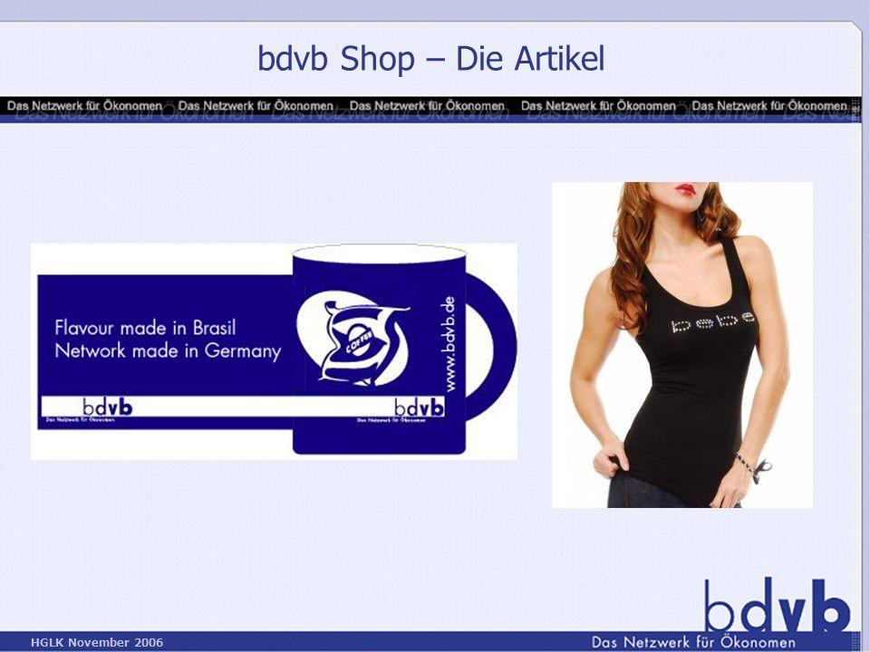 bdvb Shop – Die Artikel