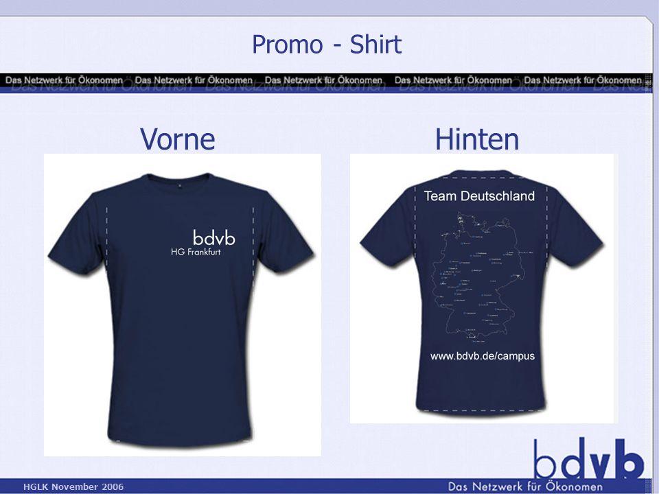 Promo - Shirt Vorne Hinten