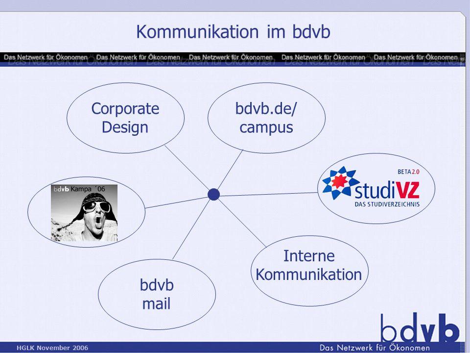 Kommunikation im bdvb Corporate Design bdvb.de/ campus Interne