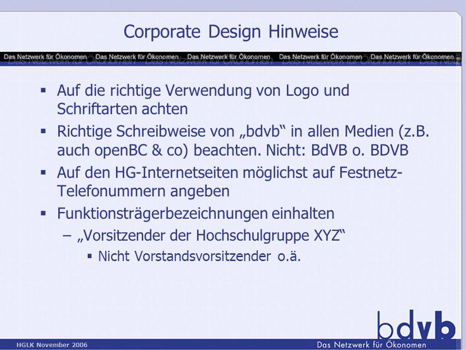 Corporate Design Hinweise