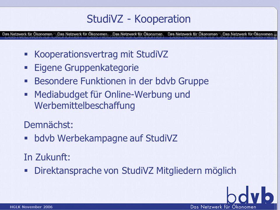 StudiVZ - Kooperation Kooperationsvertrag mit StudiVZ