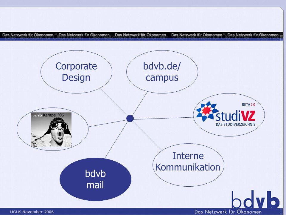 Corporate Design bdvb.de/ campus Interne Kommunikation bdvb mail