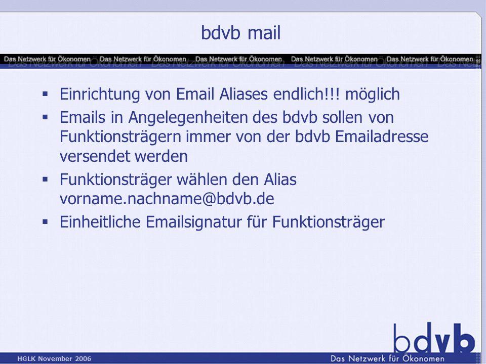 bdvb mail Einrichtung von Email Aliases endlich!!! möglich