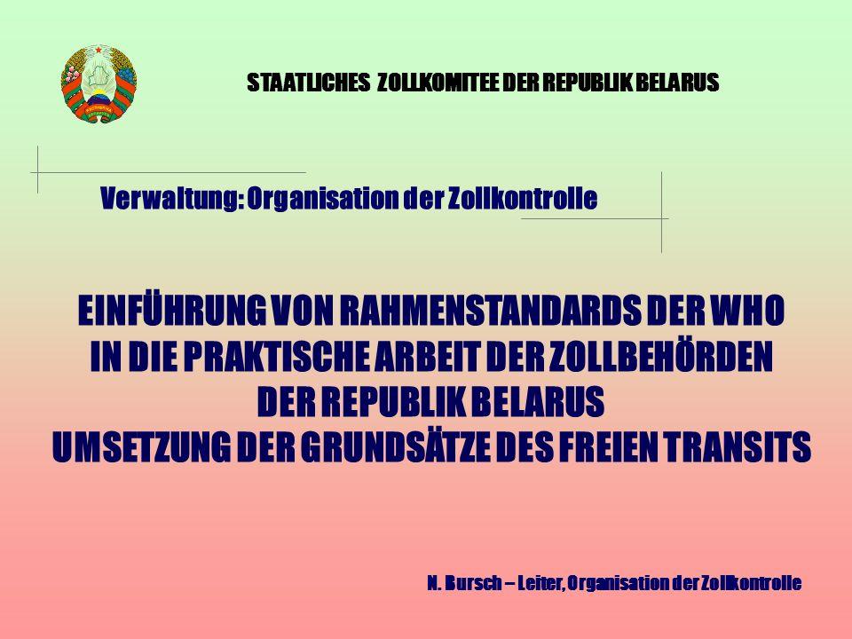 STAATLICHES ZOLLKOMITEE DER REPUBLIK BELARUS