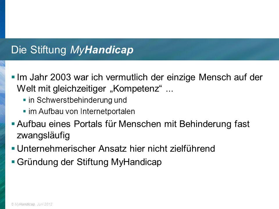 Die Stiftung MyHandicap