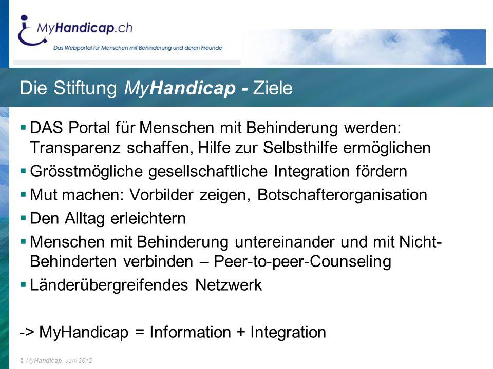 Die Stiftung MyHandicap - Ziele