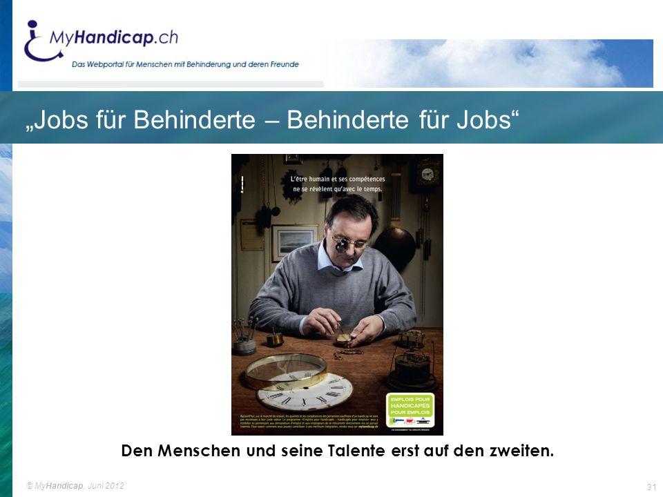 """""""Jobs für Behinderte – Behinderte für Jobs"""
