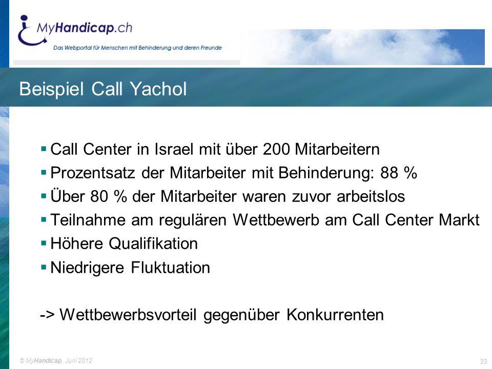 Beispiel Call Yachol Call Center in Israel mit über 200 Mitarbeitern