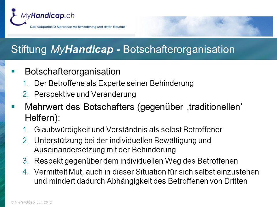 Stiftung MyHandicap - Botschafterorganisation
