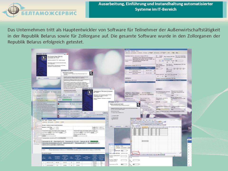 Ausarbeitung, Einführung und Instandhaltung automatisierter Systeme im IT-Bereich