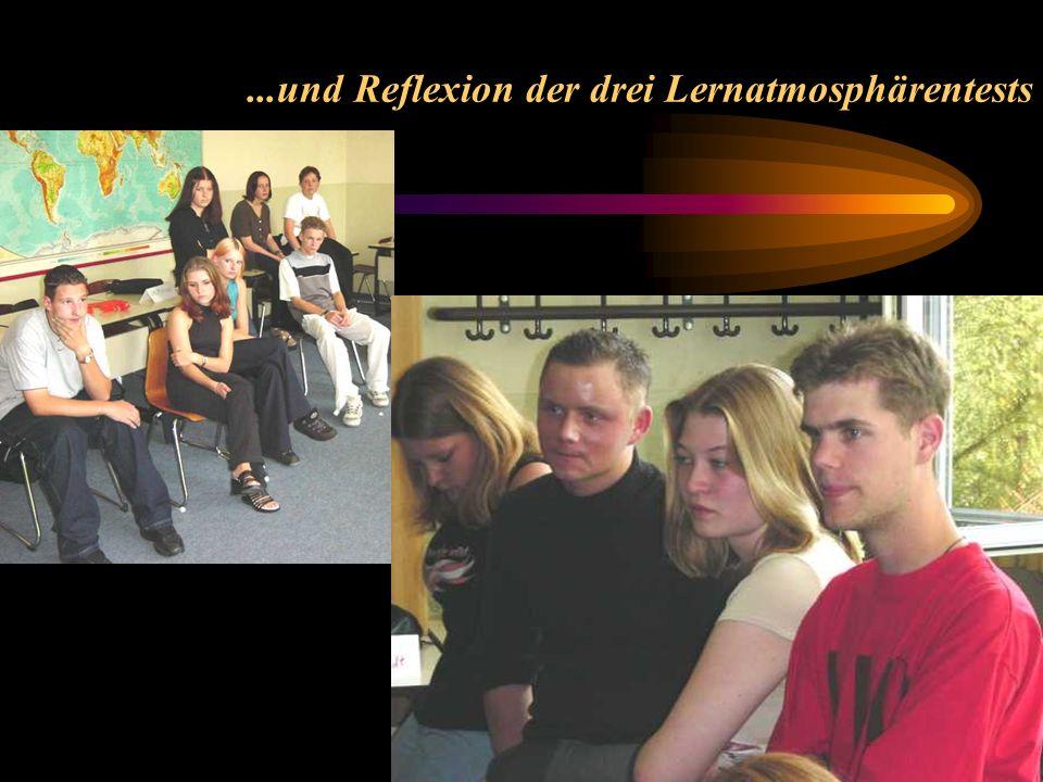 ...und Reflexion der drei Lernatmosphärentests