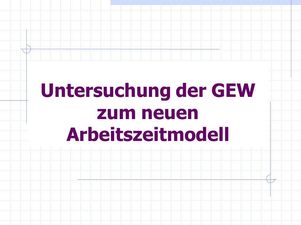 Untersuchung der GEW zum neuen Arbeitszeitmodell