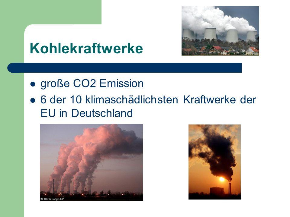 Kohlekraftwerke große CO2 Emission