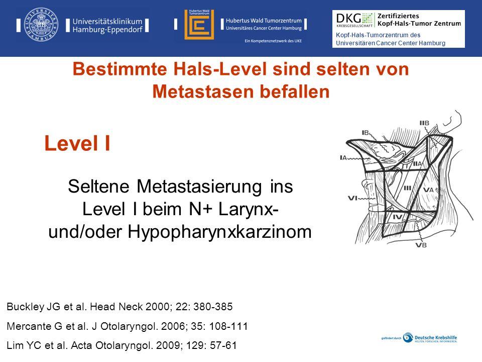 Bestimmte Hals-Level sind selten von Metastasen befallen