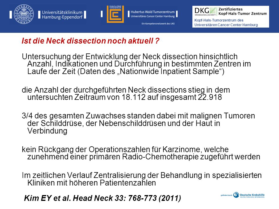 Kim EY et al. Head Neck 33: 768-773 (2011)