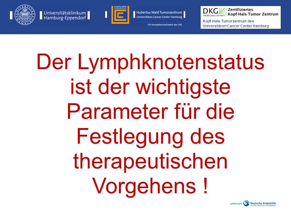 Der Lymphknotenstatus ist der wichtigste Parameter für die Festlegung des therapeutischen Vorgehens !
