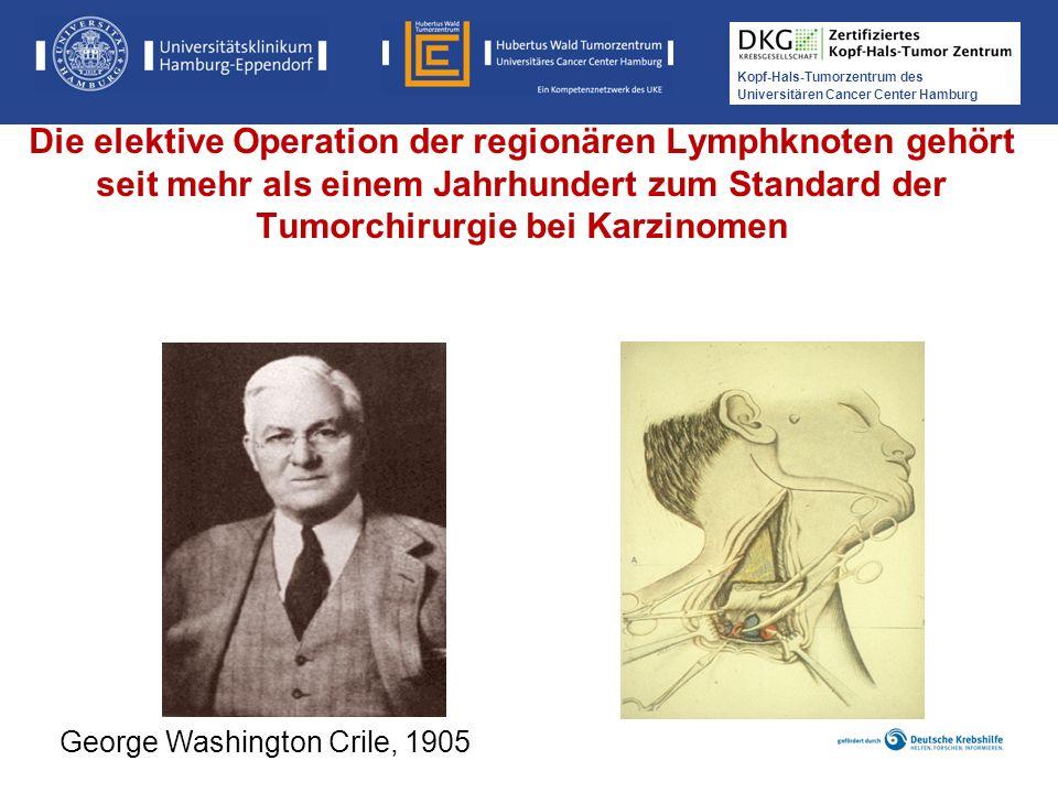 Die elektive Operation der regionären Lymphknoten gehört seit mehr als einem Jahrhundert zum Standard der Tumorchirurgie bei Karzinomen