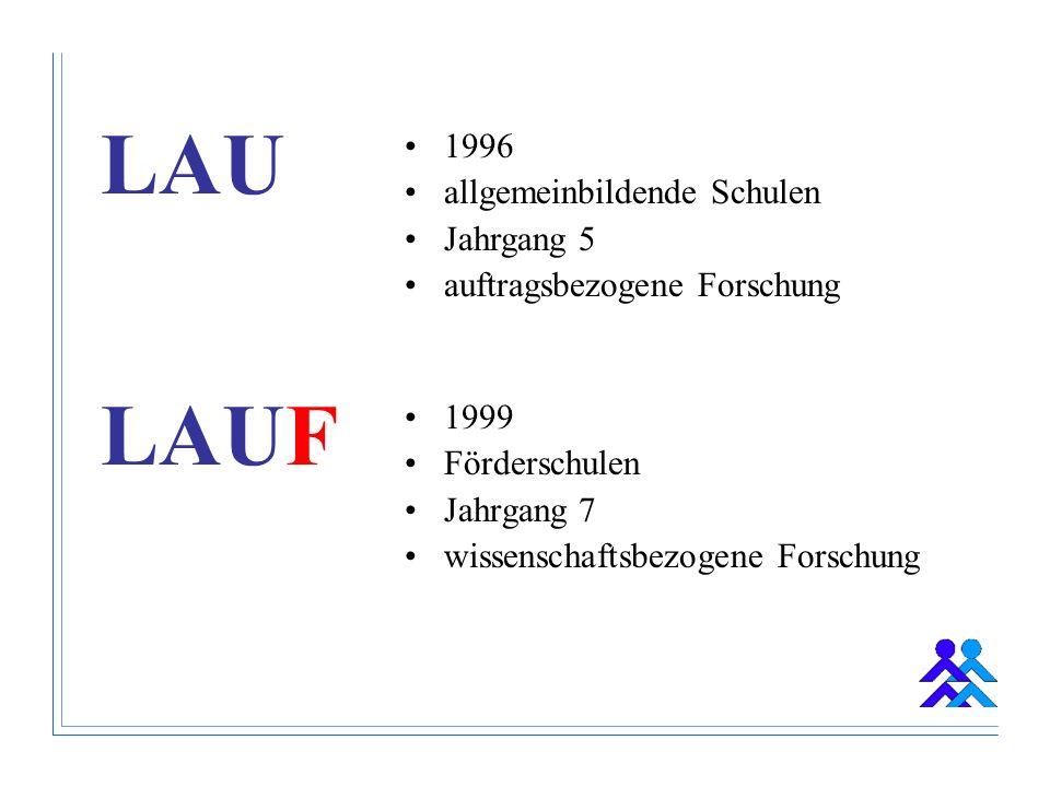 LAU LAUF 1996 allgemeinbildende Schulen Jahrgang 5