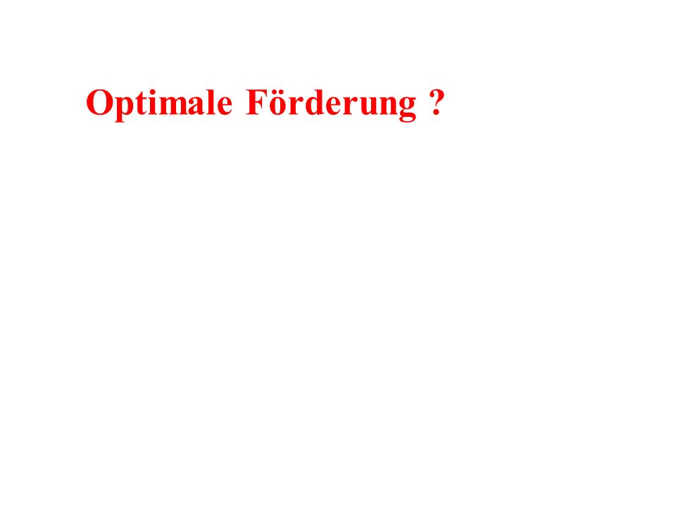 Optimale Förderung