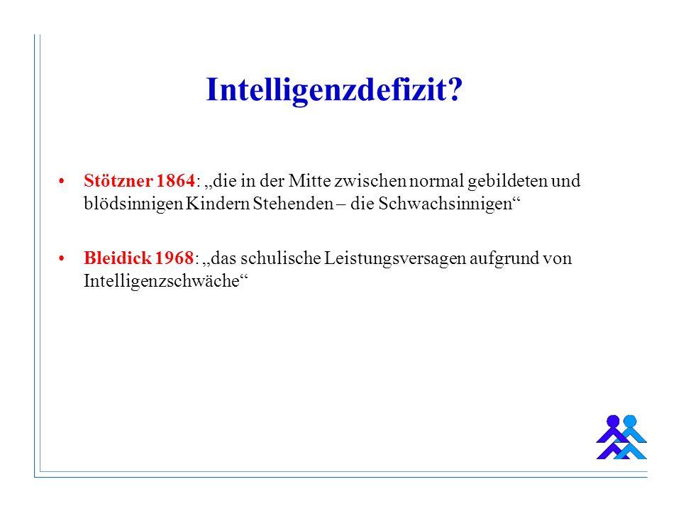 """Intelligenzdefizit Stötzner 1864: """"die in der Mitte zwischen normal gebildeten und blödsinnigen Kindern Stehenden – die Schwachsinnigen"""